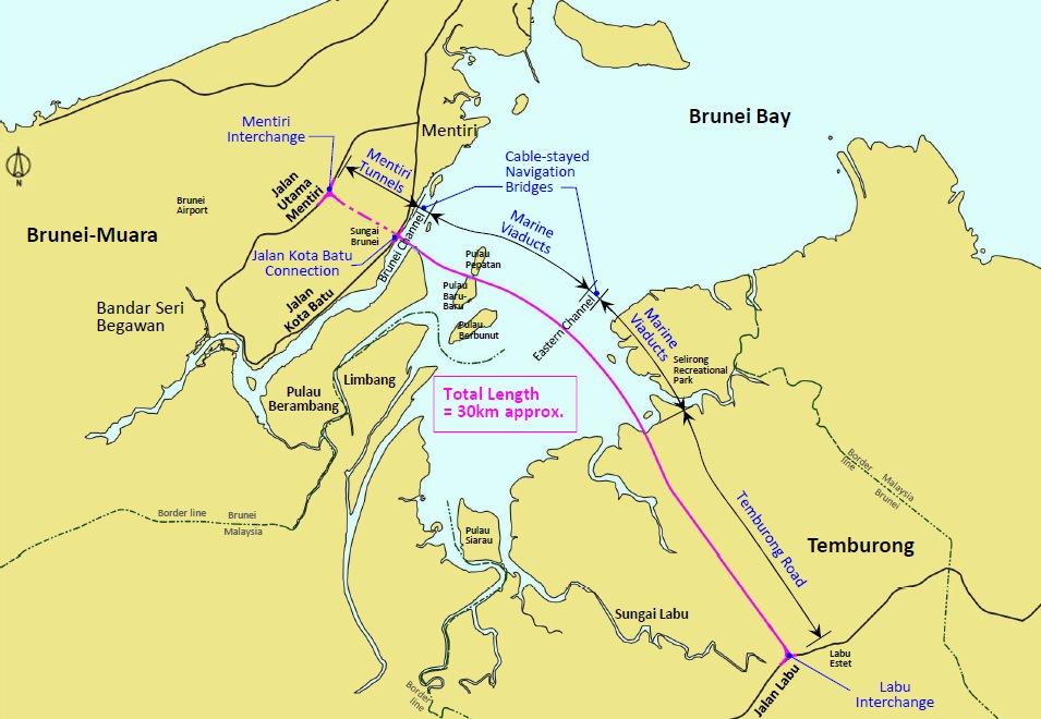 "Temburong bridge "" wegenwiki.nl"