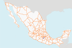Autopista Siglo XXI map.png