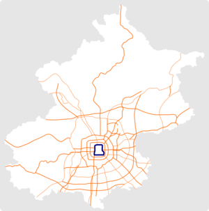Beijing 2nd Ring Road map.png