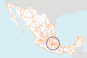 Carretera federal 138 map.png
