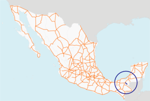 Carretera federal 203 map.png
