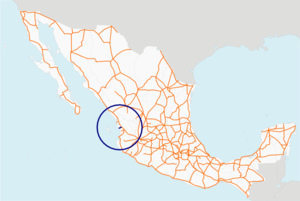 Carretera federal 72 map.png