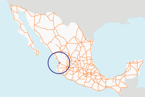 Carretera federal 76 map.png