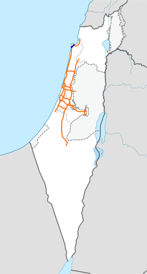 Freeway 23 Israel map.png