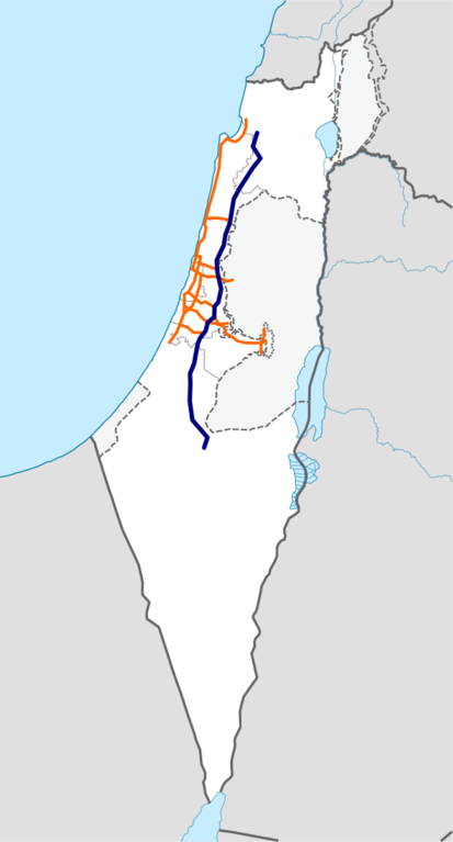 Bestand:Freeway 6 Israel map.png