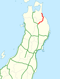 Hachinohe Expressway map.png