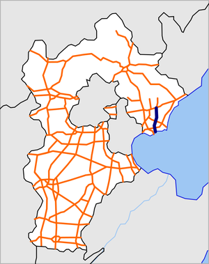 Hebei Qiancao Expressway map.png