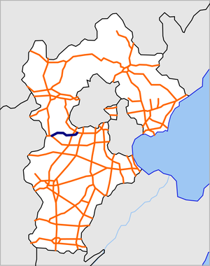 Hebei S10 Langzhuo Expressway map.png