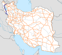 Highway 11 Iran map.png