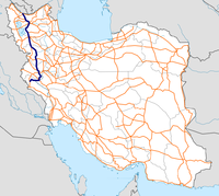 Highway 21 Iran map.png