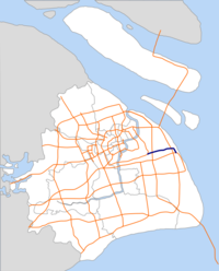 Huaxia Elevated Road map.png