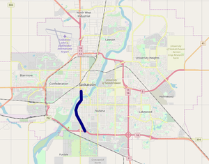 Idylwyld Drive map.png