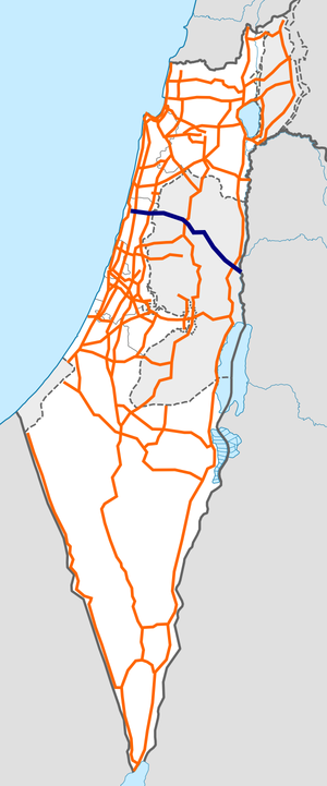 Israel Route 57 map.png