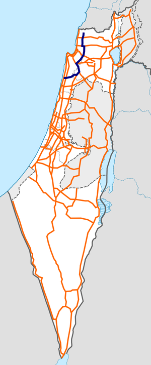 Israel Route 70 map.png