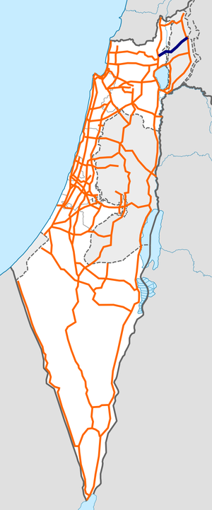 Israel Route 91 map.png