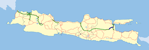 Kertosono - Mojokerto Toll Road map.png