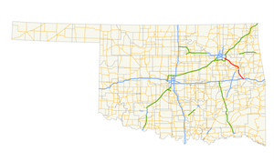 Muskogee Turnpike map.png