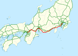 National highway 1 Japan map.png