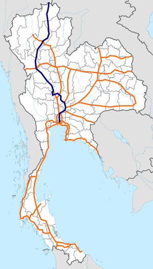 Thailand Route 1 map.png