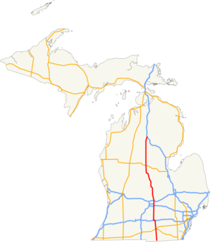 US 127 MI map.png