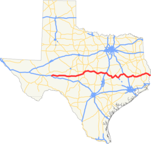 US 190 TX map.png