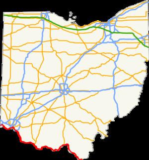 US 52 in Ohio - Wegenwiki Us Ohio Map on us 33 ohio map, us 30 ohio map, us 23 ohio map, us 35 ohio map,
