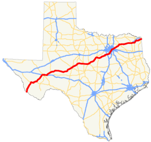 US 67 TX map.png
