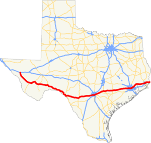 US 90 TX map.png