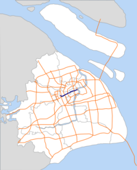 Yan'An Elevated Road map.png