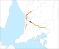 Adelaide-Crafers Highway map.png