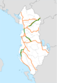 Albania road map.png