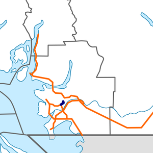 British Columbia Highway 91A map.png
