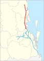 Bruce Highway freeway map.png
