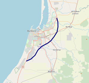 Bunbury Outer Ring Road map.png