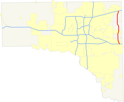 Eastern Oklahoma County Turnpike map.png