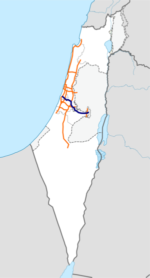 Freeway 1 Israel map.png