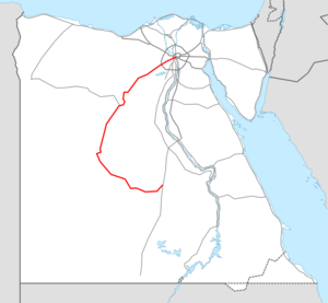Highway 10 Egypt map.png