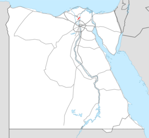 Highway 14 Egypt map.png