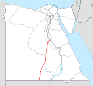 Highway 25 Egypt map.png