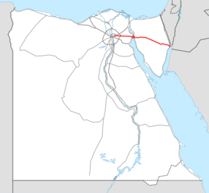 Highway 3 Egypt map.png