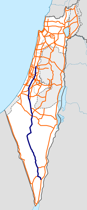 Israel Route 40 map.png