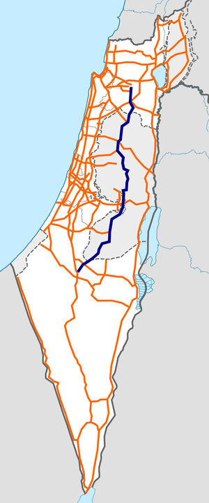 Israel Route 60 map.png