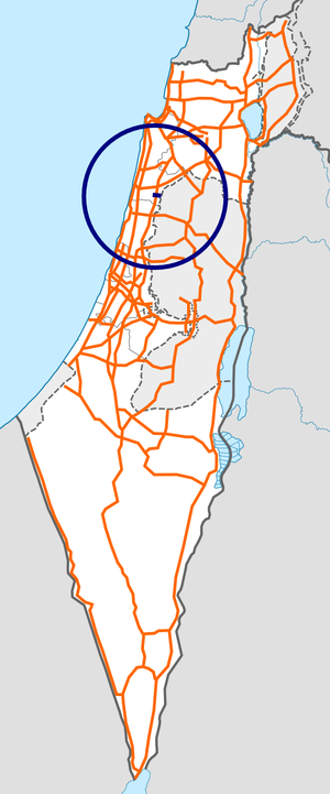 Israel Route 61 map.png