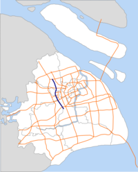 Jiaming Elevated Road map.png