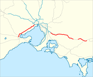Princes Freeway map.png
