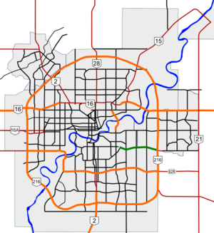 Sherwood Park Freeway map.png