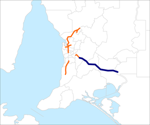 South Eastern Freeway map.png