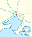 Western Distributor Melbourne map.png
